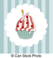 vectors of birthday cake with wine cartoon vector illustration