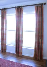 Decorative Traverse And Stationary Drapery by 100 Silk Pleated Draperies With Finials Rings U0026 Rod Window