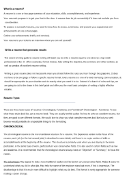 Summary Section Of Resume Resume Types And Examples Resume For Your Job Application