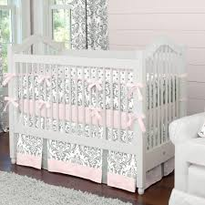 Pink And Gray Crib Bedding Bedding Cribs Awesome Grey Crib Bedding Sets Purple And Grey