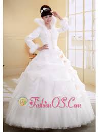 ball gown high neck neckline long sleeves wedding dress with