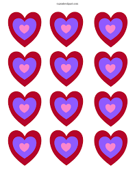 7 best images of free printable valentine day hearts valentine