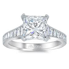 engagement ring setting step cut engagement ring setting with baguettes