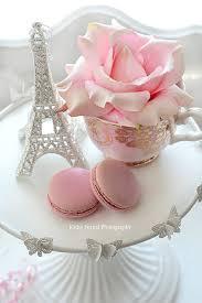 Shabby Chic Paris Decor by Eiffel Tower Pink Roses Macarons Paris Decor French Decor