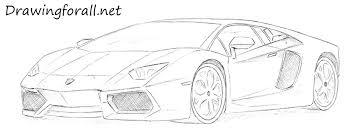 lamborghini car drawing how to draw a lamborghini drawingforall