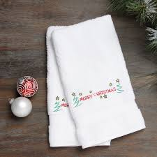 christmas towels embroidered merry christmas with turkish cotton