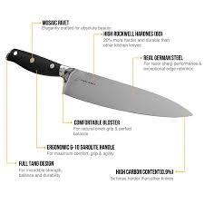 german kitchen knives professional german steel 8 inch chef knife sharppebble