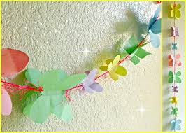 kid crafts spring butterfly garland youtube