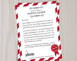 personalized letter from santa pole letter etsy