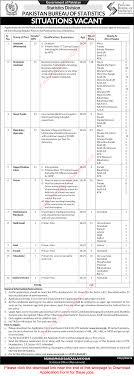 statistics bureau pakistan bureau of statistics june 2017 nts application form