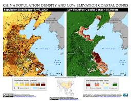 Population Density Map Us Maps Low Elevation Coastal Zone Lecz Sedac