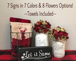 Christmas Towels Bathroom Christmas Bathroom Etsy