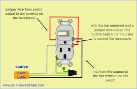 light switch receptacle combo wiring diagram wiring a switch outlet