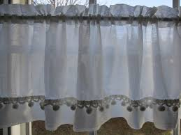 White Curtains With Pom Poms Decorating 135 Best Vintage Sheer Curtains Images On Pinterest Vintage