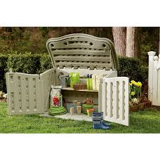 exterior small plastic rubbermaid storage sheds ideas with plant