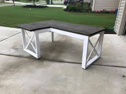 Diy Metal Desk L Shaped X Desk Handmade
