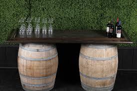 Barrel Bar Table Make A Wine Barrel Bar A1 Party