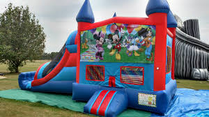 mickey mouse clubhouse bounce house blue bounce house slide combo playgrounds and party