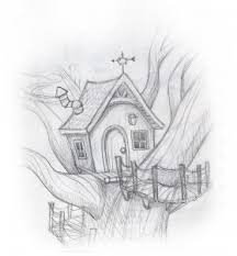 quick tree house sketch pencil u0026 30 minutes in photoshopcome blog
