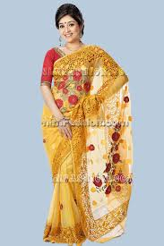 bangladeshi jamdani saree yellow exclusive jamdani saree from arnim fashion bangladeshi