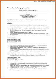 bookkeeper resume sop example