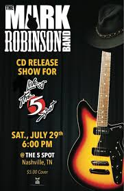 mark robinson band cd release show for