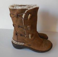 ugg womens kona boots ugg australia toast leather kona toggle sheepskin boots sz 10 eu