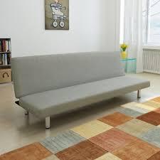 canape de repos vidaxl clic clac gris foncé en tissu canapé lit banquette lit lit de