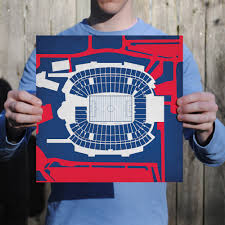 Gillette Stadium Map Gillette Stadium Map Art City Prints