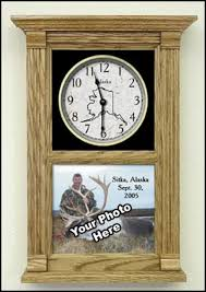 Personalized Picture Clocks Hunting Themed Clocks Etched Hunter U0027s Clock Gifts For Hunters