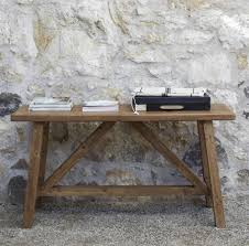 Small Console Table Outdoor Small Console Table Made From Reclaimed Wood For Rustic