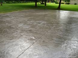 Textured Concrete Patio by Italian Slate Stamped Concrete Pattern Installed By Cornerstone