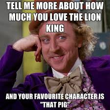 King Meme - tell me more about how much you love the lion king and your