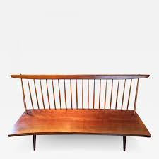 george nakashima free edge walnut bench by american woodworker
