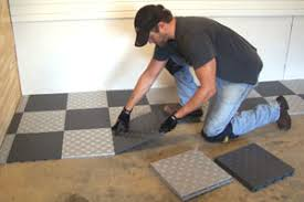 install snap together garage tile how to