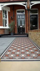 car porch tiles design victorian mosaic tile path granite paving york stone bespoke bike
