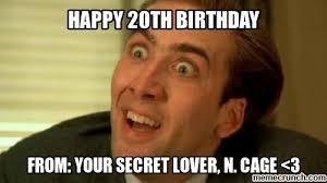 20th Birthday Meme - image jpg