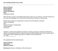 sample cover letter for accounting assistant accounts assistant