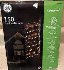 ge constant on christmas lights ge constanton 150 tree trunk net lights in outdoor use clear 10 x 2