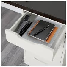 Ikea Desk Drawer Organizer by Linnmon Alex Table Black Brown White Ikea