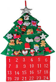 tree fabric advent calendar countdown to