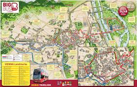 touristic map of map of vienna tourist attractions sightseeing tourist tour