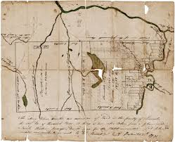 Map Of Maine Towns 18th Century Survey Of Two Townships On The Kennebec River Maine