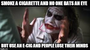 Meme E - smoking cigarettes vs e cigs imgflip