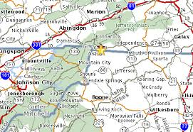 map of virginia and carolina high mountain cabins our location