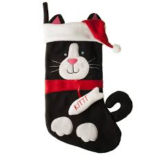 cat christmas stocking by the christmas home notonthehighstreet