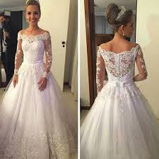 wedding dresses the shoulder sleeves cheap vantage shoulder sleeve white lace tulle wedding