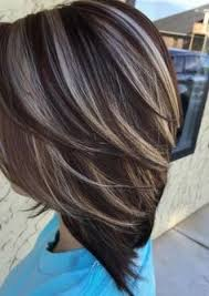 chocolate hair with platinum highlight pictures image result for transition to grey hair with highlights hair