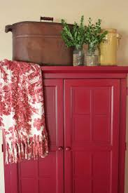 Red Paint by Best 25 Red Hutch Ideas On Pinterest Red Buffet Red Painted