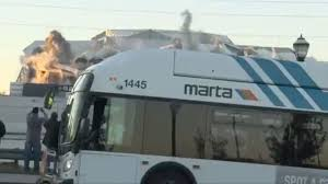 Meme Bus - look bus blocking georgia dome implosion is newest sports meme